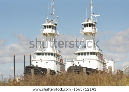 Old boats Tug boats and shrimp boats  #1563712141