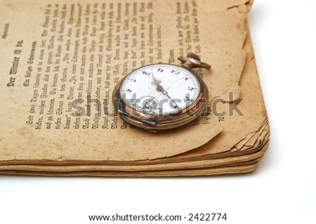 Old book and old watch.