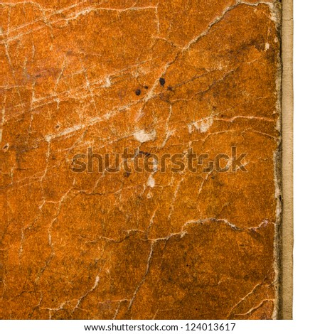 Old book cover background with scratches