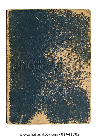 Old book cover on a white background
