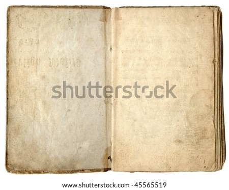 Old book empty