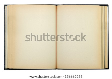 old book isolate include clipping path