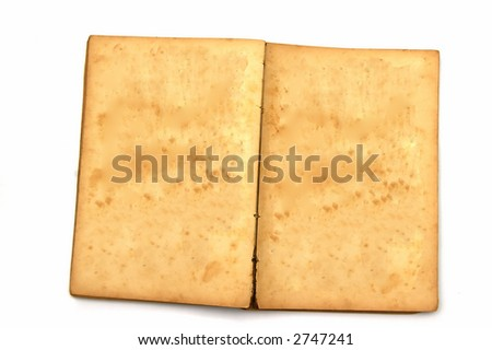 Old book isolated against a white background