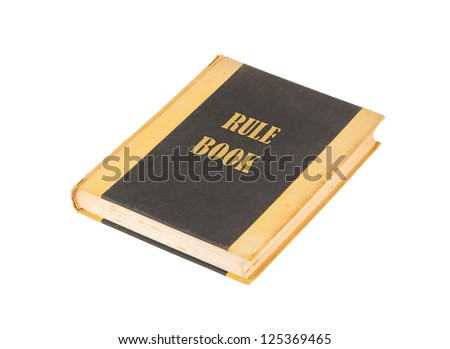 Old book isolated on white, rule book