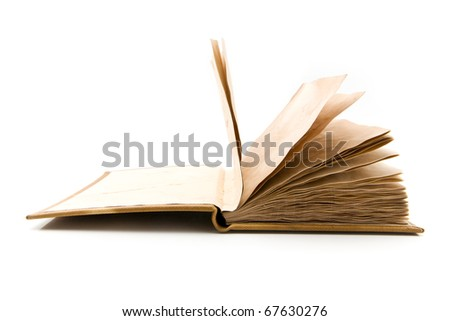 old book on a white background