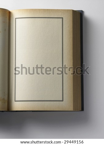 old book on the plain background with soft shadow