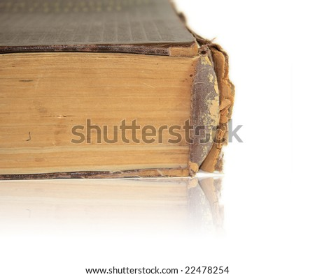Old book on white