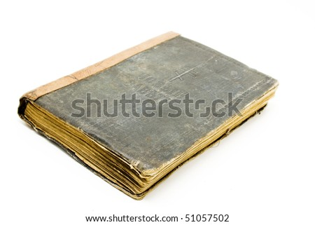 old book on white background