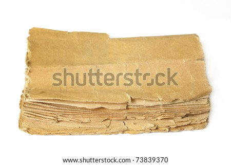 old book on white backgrounds