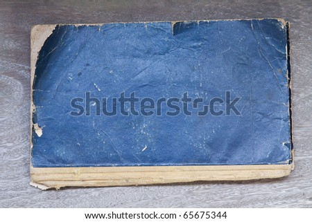 Old book on wood