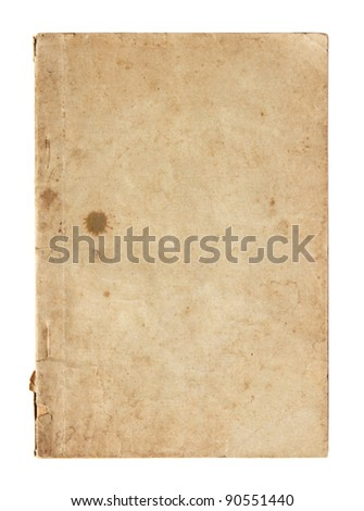 old book pages isolated on white