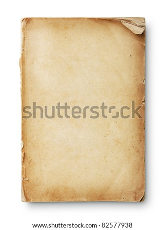 Old book pages with shadow. With clipping path