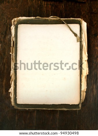 old book with blank papers as background vertical