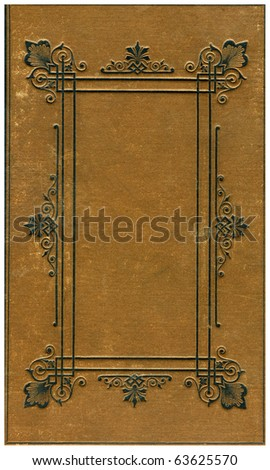 Old bookes cover isolated on White.
