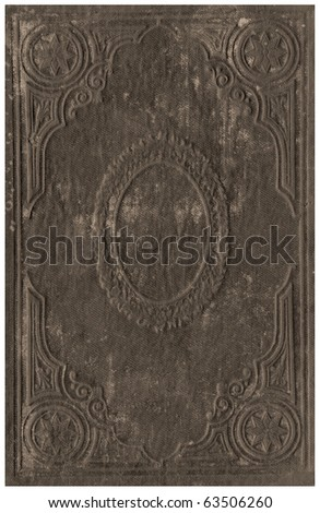 Old books cover isolated on White.
