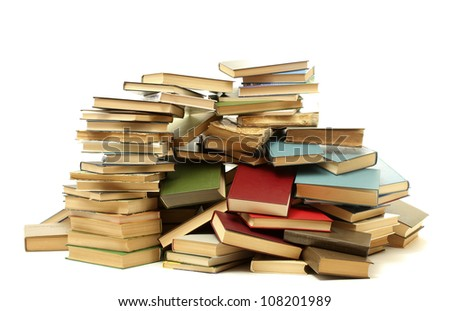 old books isolated on white