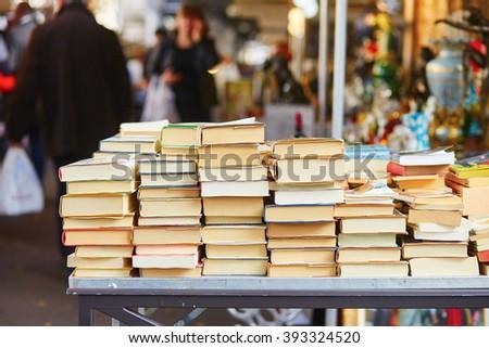 old books on a parisian flea...