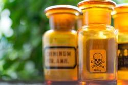Old bottle-medical-poisonous
