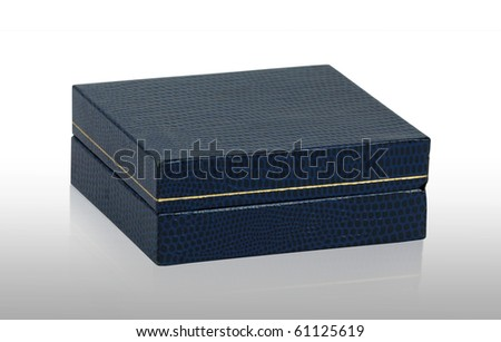 Old box isolated on white background