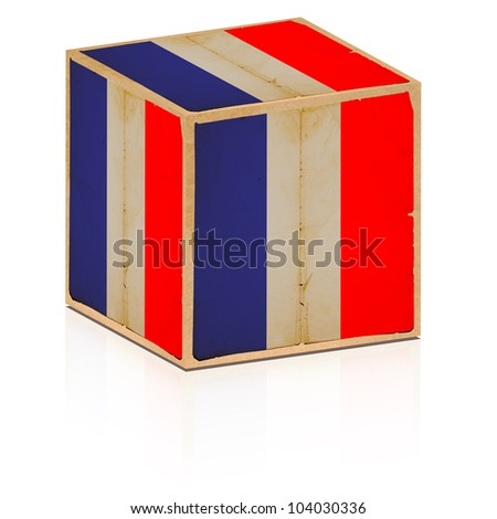 old box with france flag on it