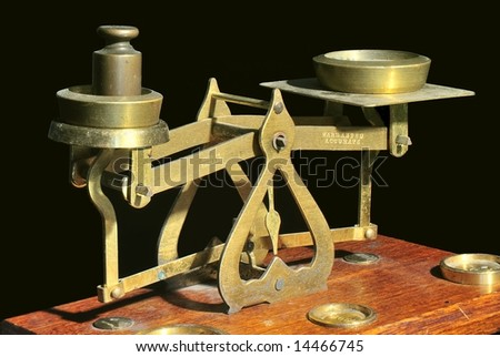 Old Brass Balance Scales