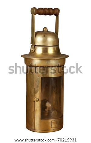 Old brassy ship lantern