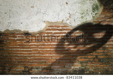 Old brick backgrounds texture with Halloween theme