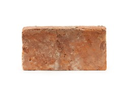 old brick isolated on white background. Building concept