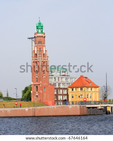 Old Brick Lighthouse in Bremerhaven, Germany