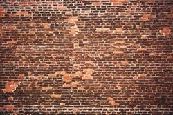 Old brick medieval wall