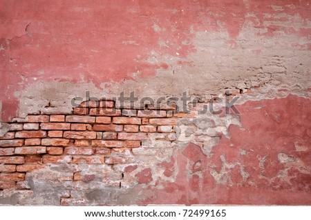 Old Brick Wall And Stucco Abstract - 51.1KB