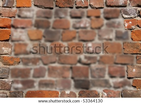Old brick wall as a grungy frame