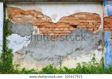 Old brick wall as abstract background - stock photo