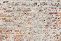 Old brick wall. Grunge texture background