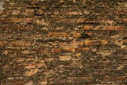 Old brick wall pattern for background,vintange background