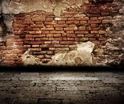 old brick wall room