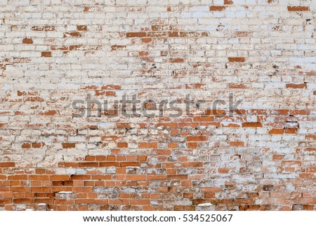 old brick wall with white and red bricks background. vintage brick wall texture