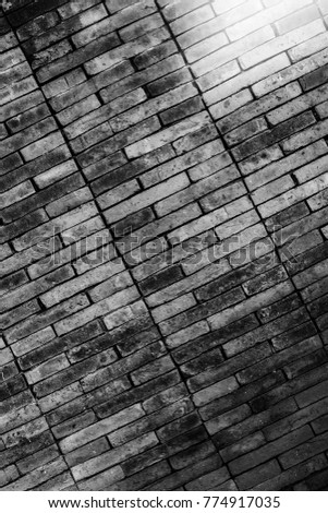 Old brick walls and an old concrete wall texture  Concrete building materials stone materials materials moss. #774917035
