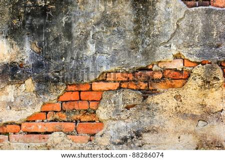 Old brick walls and ruined