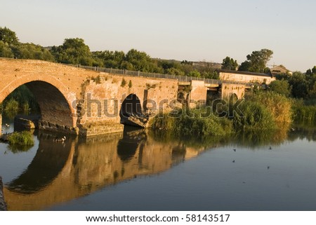 Old Bridge at Talavera de la Reina, Toledo, Spain