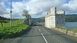 Old bridge from railway Glenariff Glen Co Antrim Northern Ireland