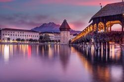 Old bridge of Luzern Switzerland
