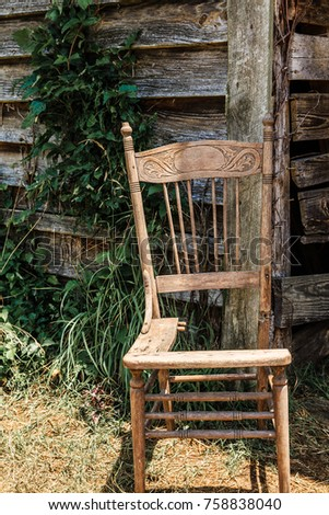 Old Broken Chair 758838040