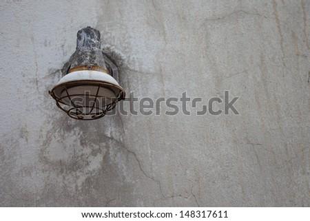 Old broken out door lamp