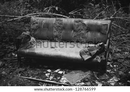 Old broken sofa.