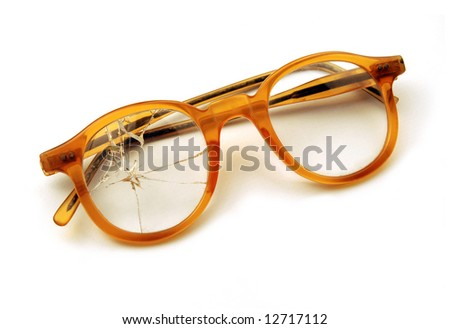 Old broken spectacles