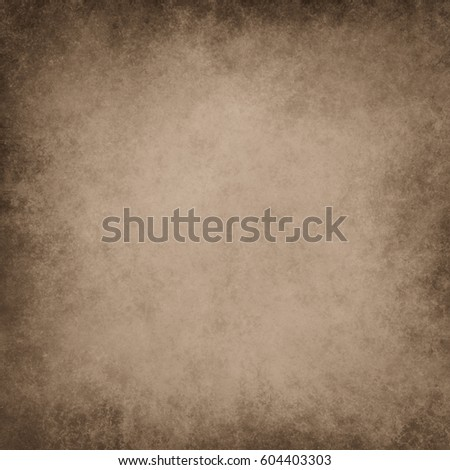 old brown background with vintage texture and black grunge borders, dark rough surface material