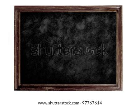 Old brown blank dirty blackboard