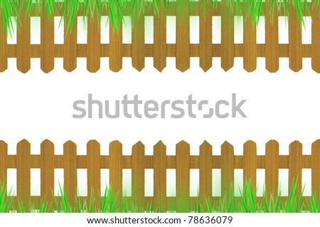 old brown fence and grass for background