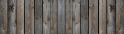Old brown gray grunge rustic dark wooden table texture - wood background panorama long banner wide
